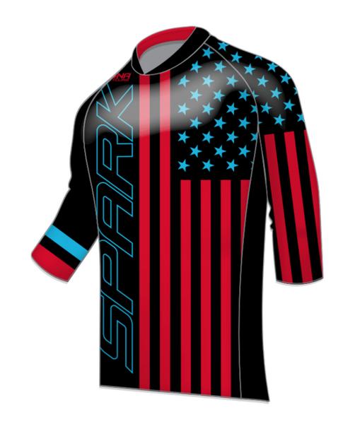 Spark Patriot Freeride 3/4 Jersey - Black RB