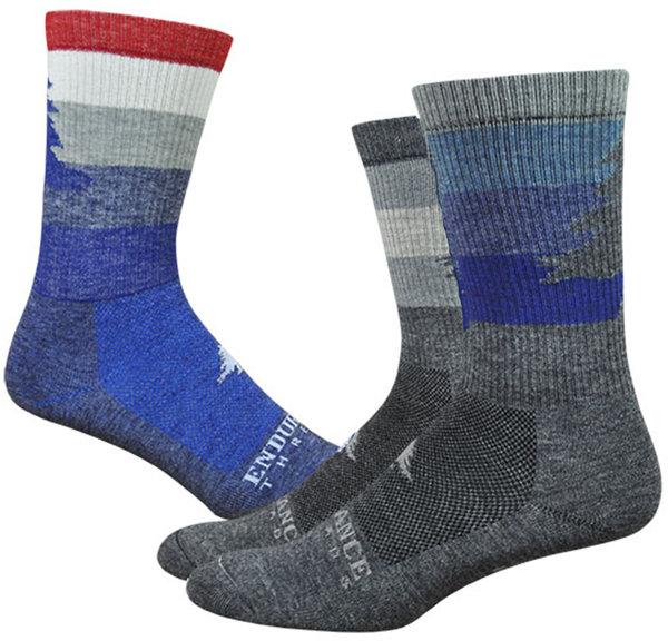 "Endurance Threads NEAF Stripey 6"" Wool Comp Trail Sock"