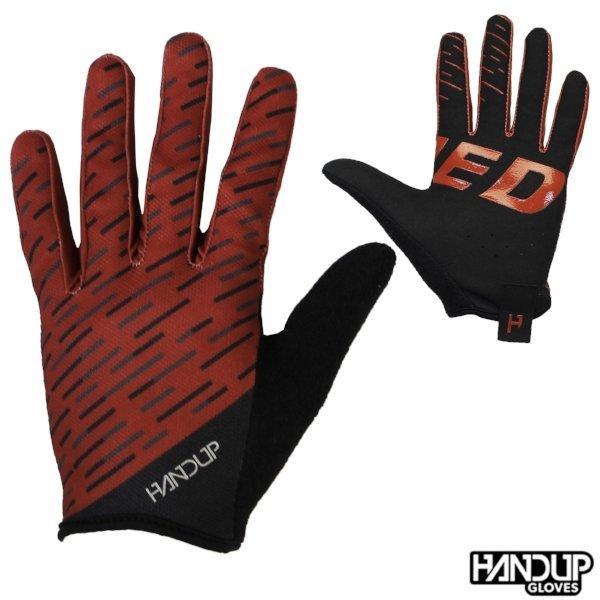 Handup Gloves Pinned - Warp Speed - Maroon/Black