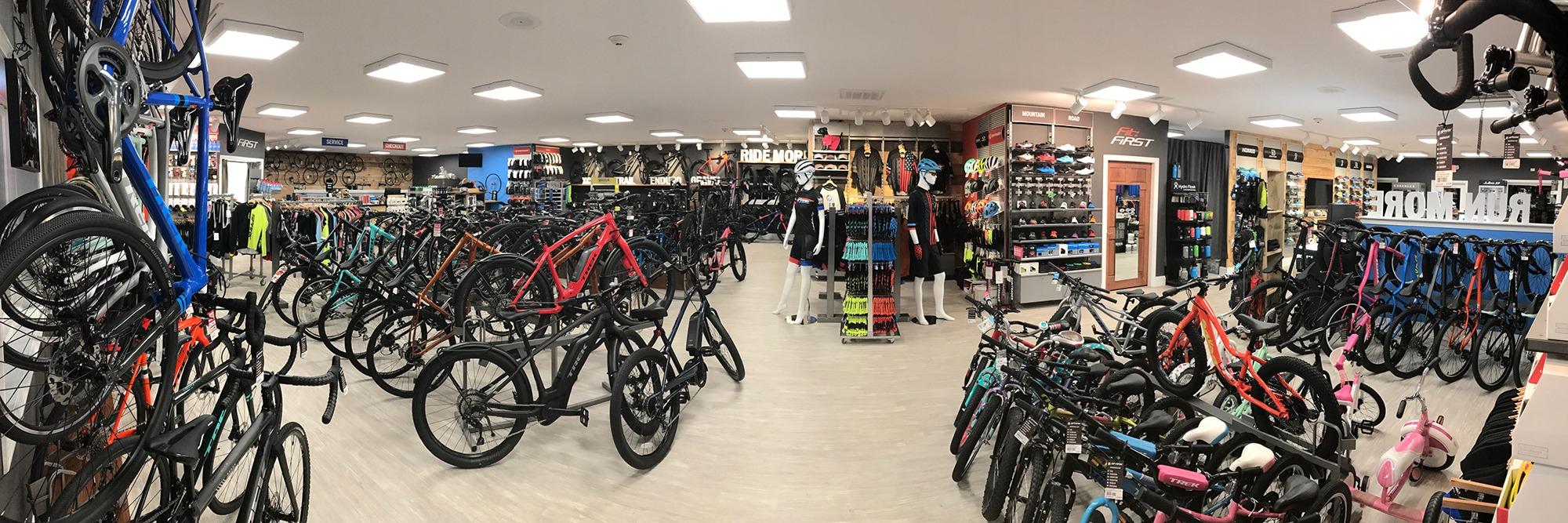 Spark Bike Run Sports shop interior