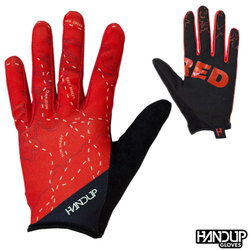 Handup Gloves Shred - The Red Sedona Trail Map - Red/Black