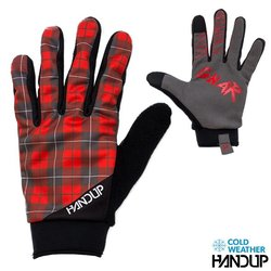 Handup Gloves Shred The Gnar Winter - Lumberjack Flannel - Red/Black