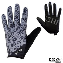Handup Gloves Smeash - Bike Life Doodles - Grey/Black
