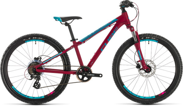 "Cube Bikes Access 240 Disc 24"" Color: berry/aqua/pink"