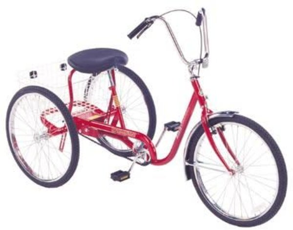 "Trailmate Desoto Classic 24"" Adult Trike Color: Red"