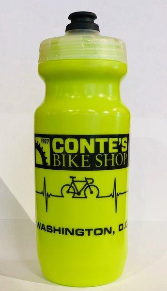 Conte's 21 oz Heartbeat Hi-Viz Yellow Water Bottle
