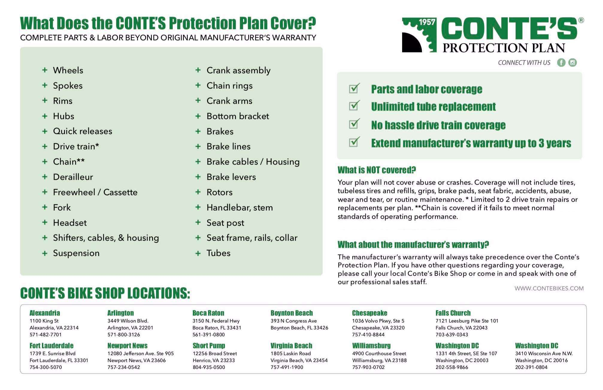 Conte's Protection Plan Information
