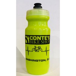Conte's 21 oz Heartbeat Hi-Viz Yellow Water Bottle