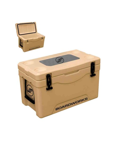 Boardworks 38L Roto-Molded Chill Station Cooler - Tan