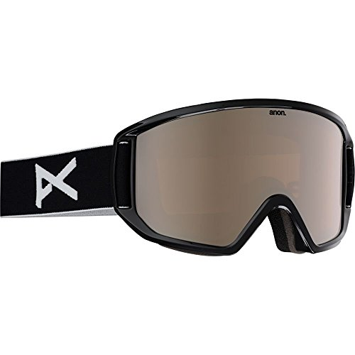 Anon Mens RELAPSE SNOW GOGGLE Color: Black w/ Silver Amber and Amber Lenses