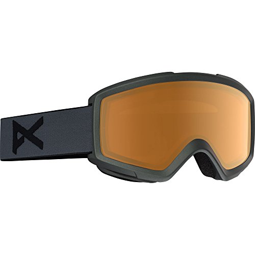 Anon Mens HELIX 2.0 (NON-MIRROR) SNOW GOGGLE Color: Stealth w/ Spare Amber Lens
