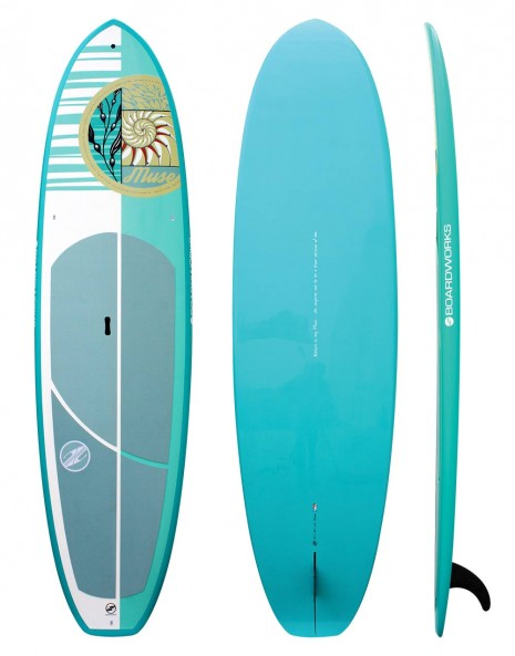 "Boardworks 10'6"" EPX Muse - White/Sea Foam/Teal"