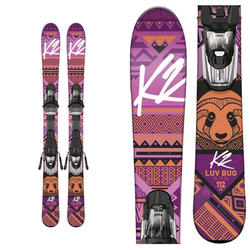 K2 Luv Bug Kids Skis w/ Marker Fastrak2 4.5 Binding