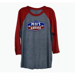 Pete's Garage Raglan T-Shirt - Red