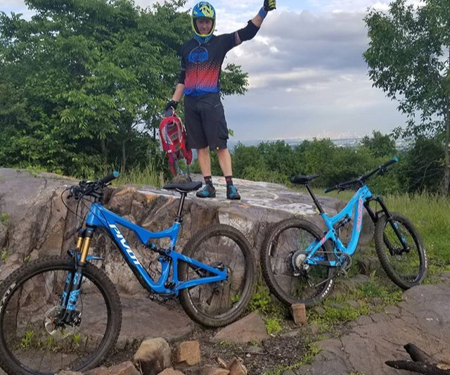 Photo of rider on local trails