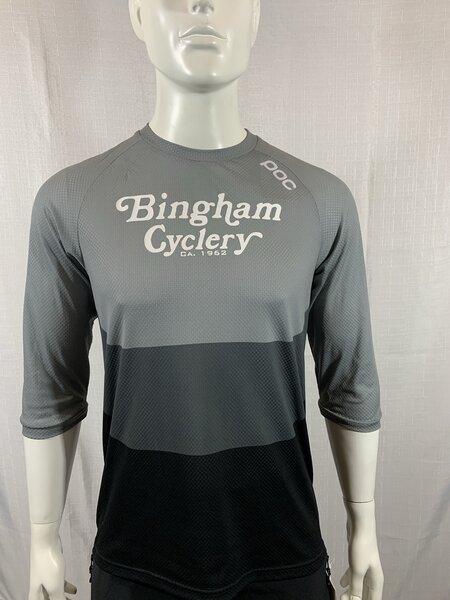 POC Bingham Cyclery Essential Enduro 3/4 Light Jersey Francium Multi Grey