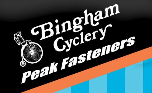 Bingham Cyclery Peak Fasteners logo