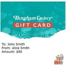 Bingham Cyclery Gift Certificate