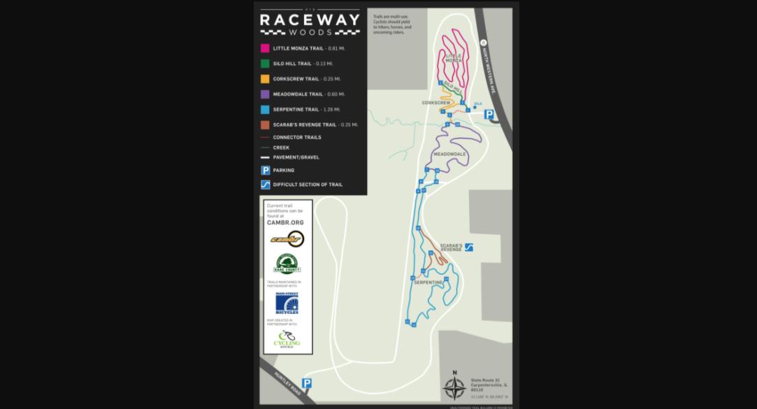 raceway woods map