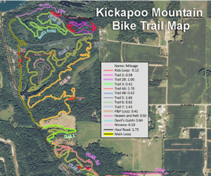 Kickapoo Mountain Bike Trail Map