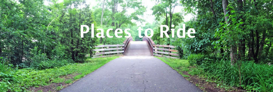 Places to ride bikes