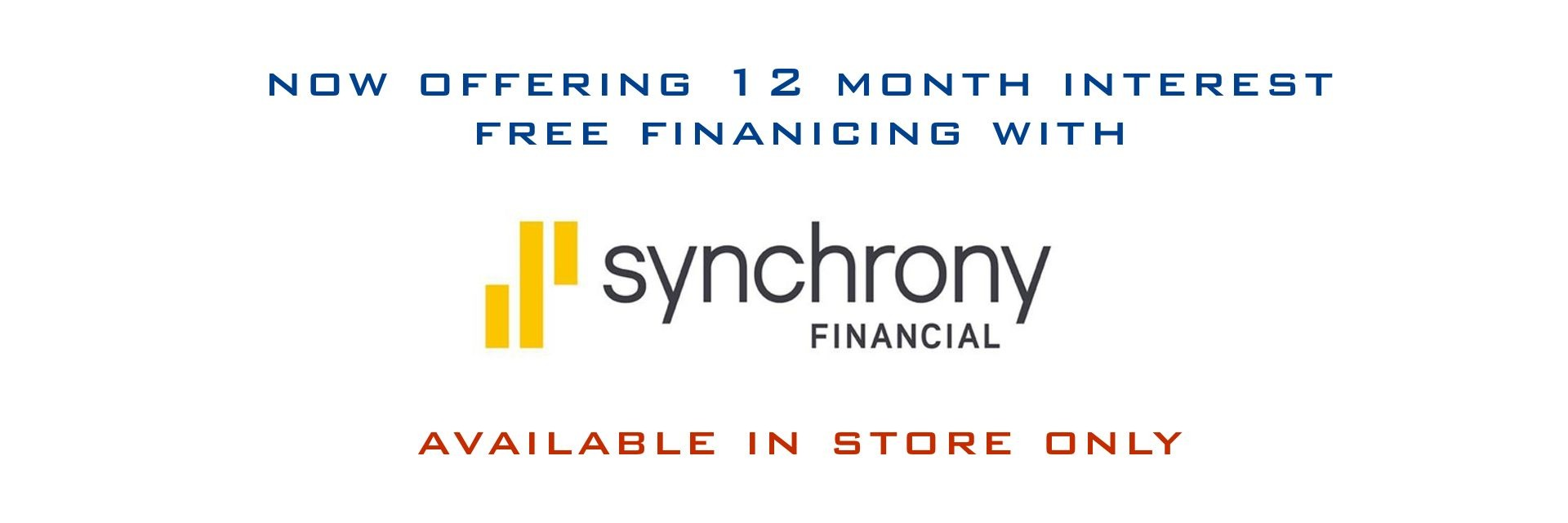 12 Month Interest Free Financing With Synchrony At Bicycle Pro Shop