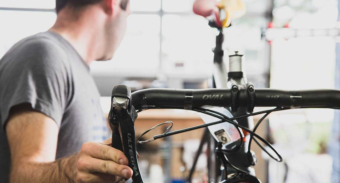 Bike service at Grove Street Bicycles