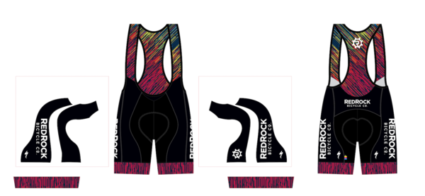 Red Rock Bicycle GLITCH SL EXPERT WOMANS BIB SHORT