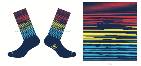 Red Rock Bicycle GLITCH SOCK L/XL