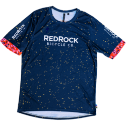 Red Rock Bicycle RRBC Breccia All Mountain Jersey- Blue/Yellow