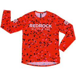 Red Rock Bicycle RRBC Breccia All Mountain Long Sleeve Jersey- Orange