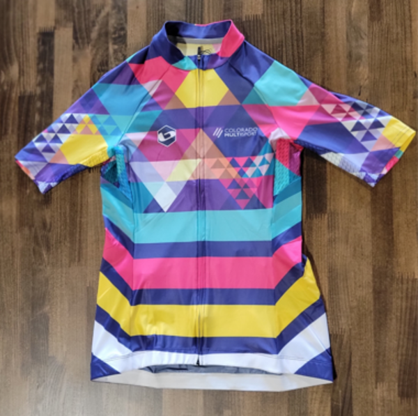 Full Cycle/Tune Up Colorado Multisport Base Womens Multi-Color Jersey