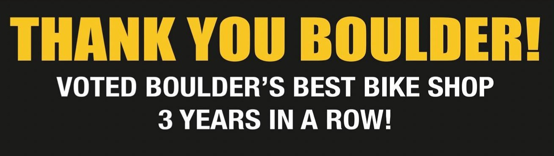 Thank you Boulder