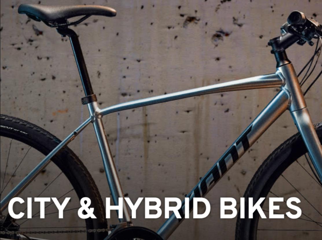 city and hybrid bikes