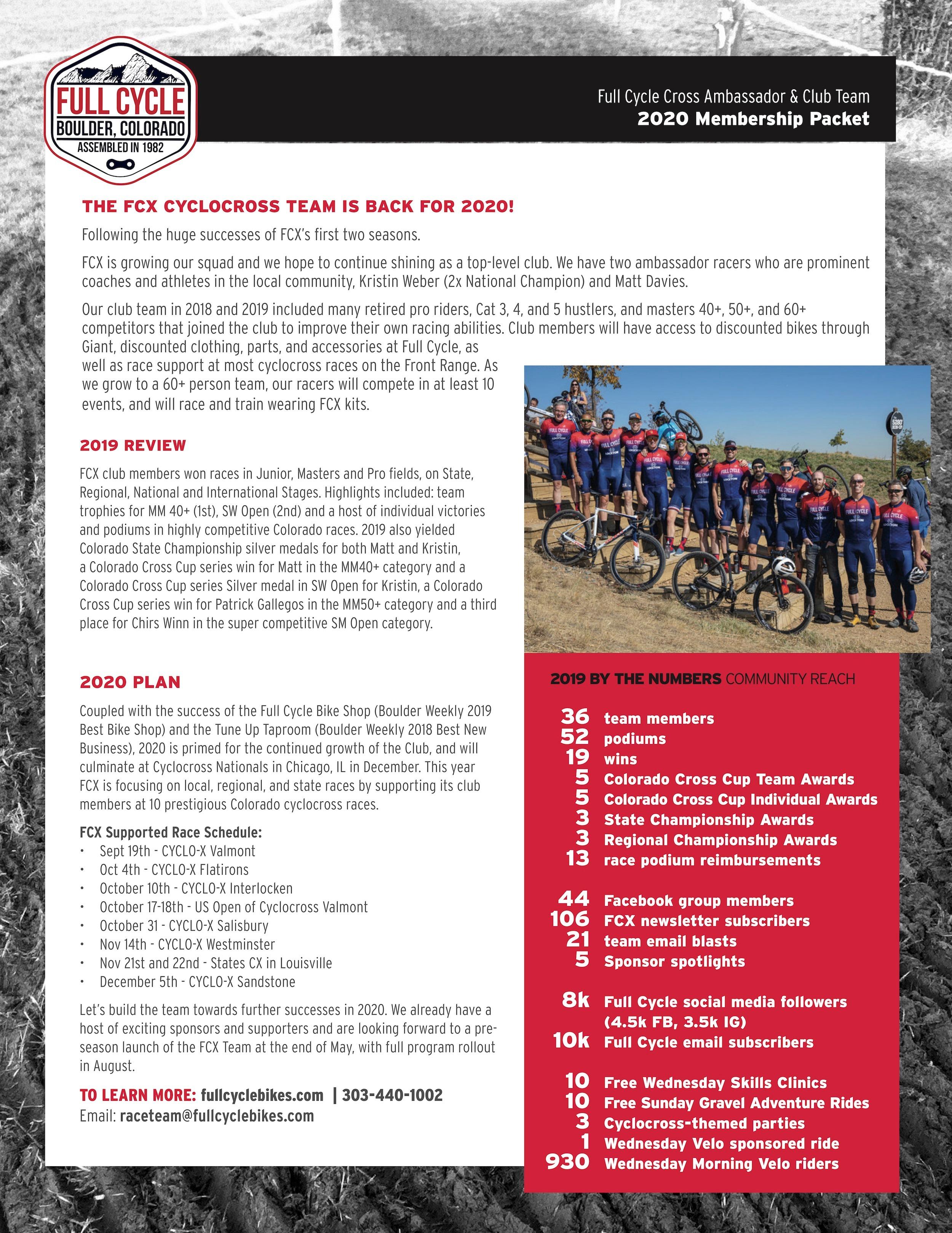 full cycle cyclocross team membership
