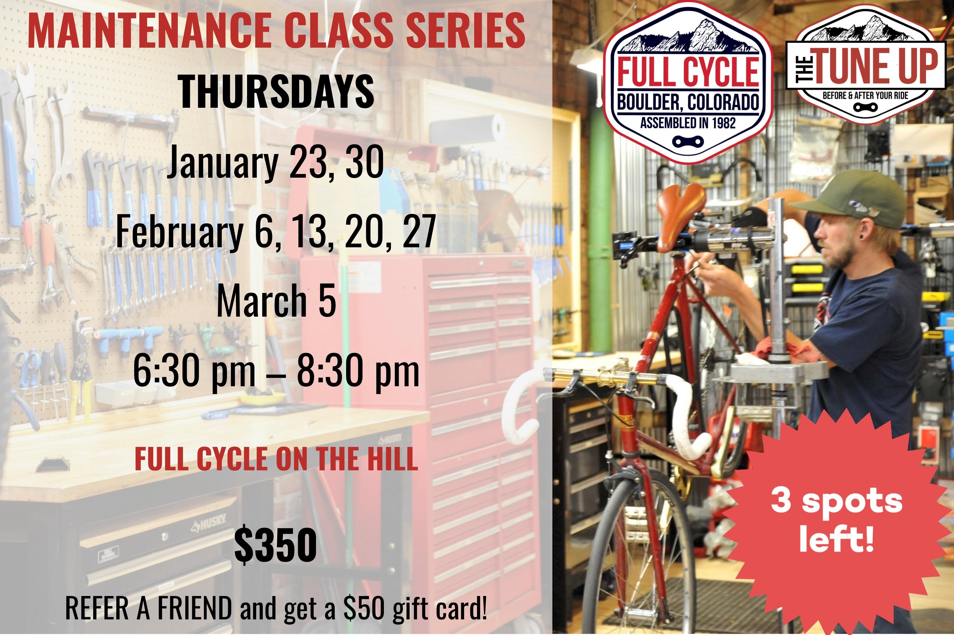 Maintenance Classes Thursdays