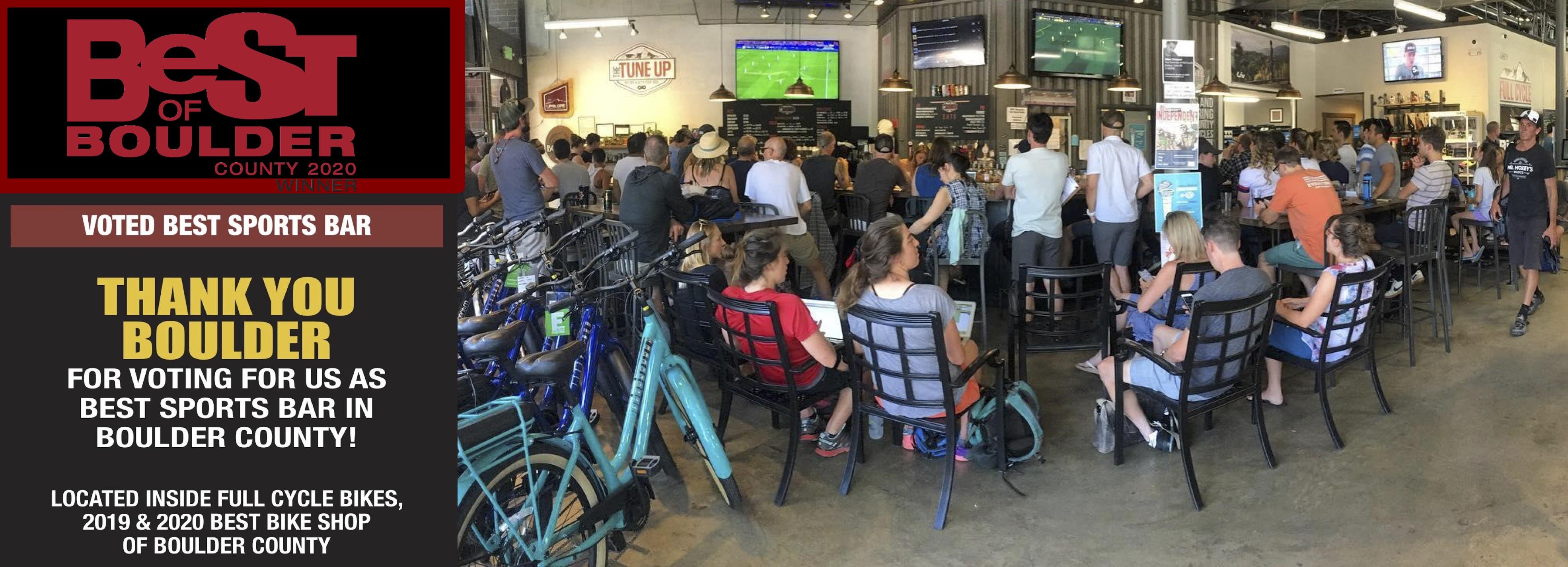Best of Boulder- Voted best sports bar