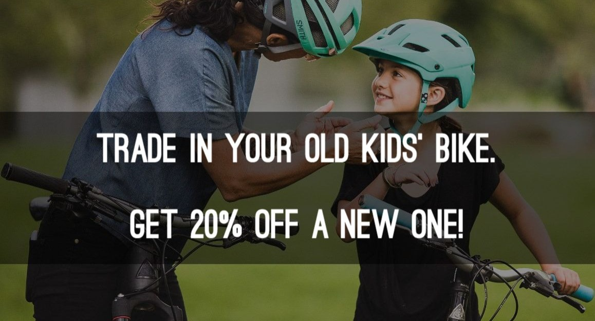 20% off new kid bikes with trade in