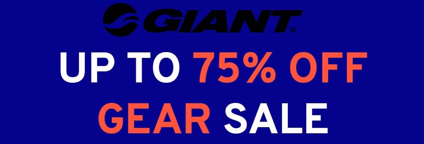 Upt to 75% off Giant gear