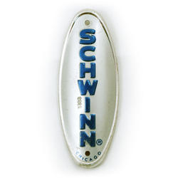 Schwinn head badge (blue & silver oval)