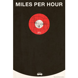 Re-Cycle Miles Per Hour Poster