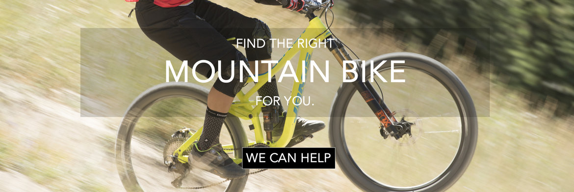 Let us help you find your mountain bike.