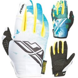 FLY Racing KINETIC WOMENS GLOVE TEAL/YELLOW XS