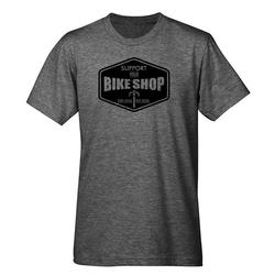 Mechanical Threads Support Your Local Bike Shop heather tee