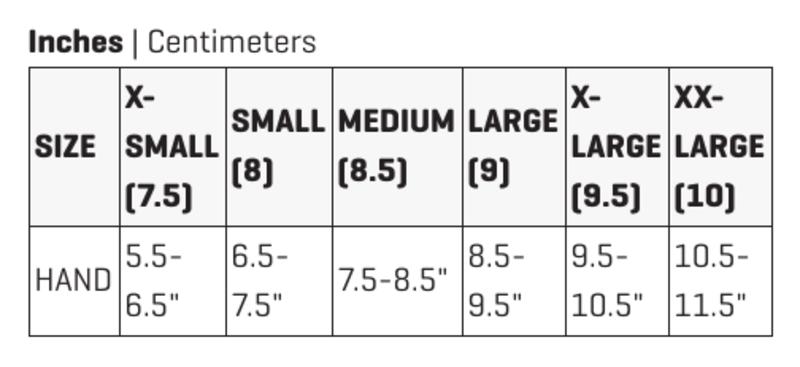 Dakine Glove Size Chart