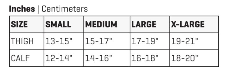 Dakine Knee Pad Size Chart