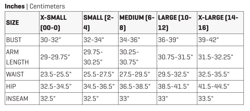 Dakine Womens Size Chart
