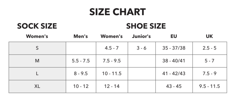 Darn Tough Womens Sock Size Chart