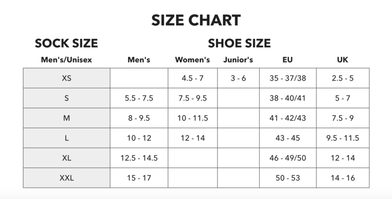 Darn Tough Mens Sizing Chart