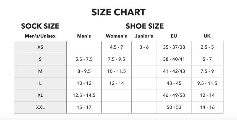 Darn Tough Mens Sizing Chart